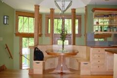 Breakfast Nook and Custom Kitchen Cabinets