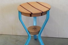 Blue Milking Stool