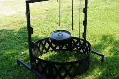 Campfire Grill with Hanging Kettle