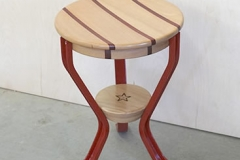 Red Milking Stool