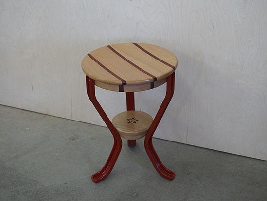 Red heritage milking stool